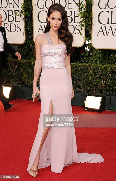 Actress Megan Fox arrives at the 68th Annual Golden Globe Awards held at The Beverly Hilton hotel on January 16 2011 in Beverly Hills California