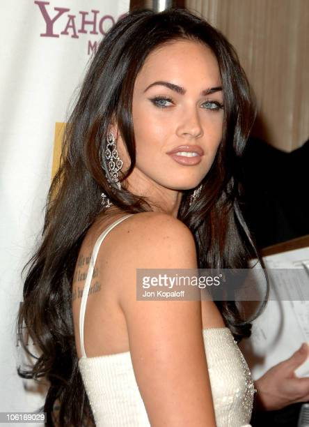 Actress Megan Fox arrives at the Hollywood Film Festival's Hollywood Awards at the Beverly Hilton Hotel on October 22 2007 in Beverly Hills California