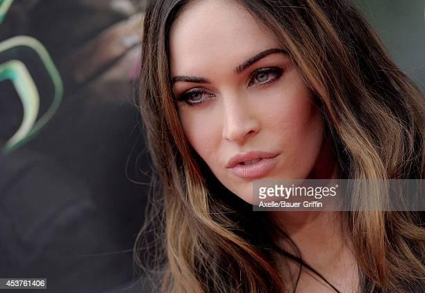 Actress Megan Fox arrives at the Los Angeles Premiere of 'Teenage Mutant Ninja Turtles' at Regency Village Theatre on August 3 2014 in Westwood...