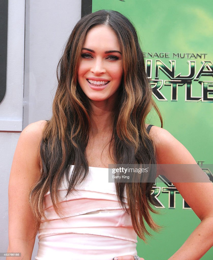 Actress <a gi-track='captionPersonalityLinkClicked' href=/galleries/search?phrase=Megan+Fox&family=editorial&specificpeople=2239934 ng-click='$event.stopPropagation()'>Megan Fox</a> arrives at the Los Angeles Premiere 'Teenage Mutant Ninja Turtles' at Regency Village Theatre on August 3, 2014 in Westwood, California.