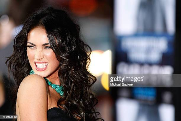Actress Megan Fox arrives at the premiere of Dreamworks' 'Eagle Eye' at the Mann Chinese Theater on September 16 2008 in Los Angeles California