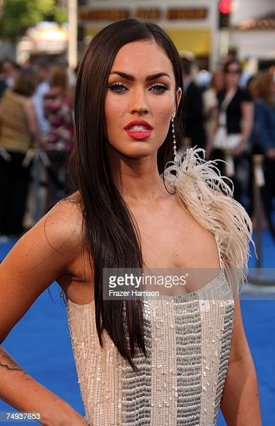 Actress Megan Fox arrives to Paramount Pictures' premiere of 'Transformers' held at Mann's Village Theater on June 27 2007 in Westwood California