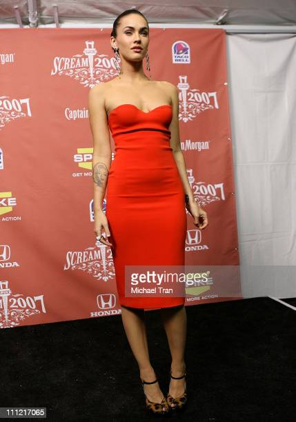 Actress Megan Fox at the 2007 Spike TV Scream Awards at The Greek Theater on October 19 2007 in Los Angeles California