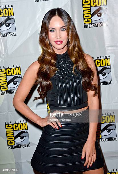 Actress Megan Fox at the 'Teenage Mutant Ninja Turtles' panel for the Paramount Studios Presentation on Day 1 of ComicCon International 2014 held at...