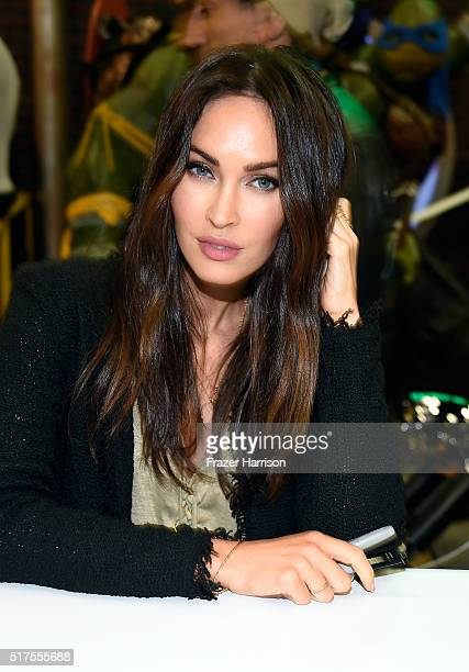 "Actress Megan Fox attends an autograph signing at WonderCon 2016 to promote the upcoming release of Paramount Pictures' ""Teenage Mutant Ninja Turtles..."