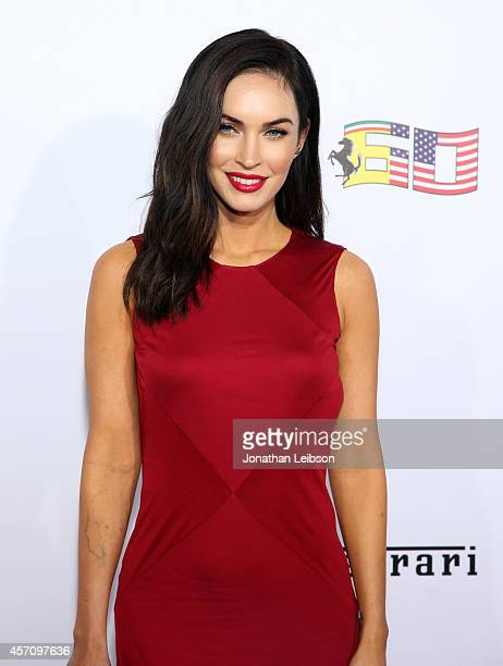 Actress Megan Fox attends Ferrari Celebrates 60 Years In America on October 11 2014 in Los Angeles California