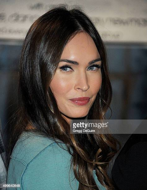 Actress Megan Fox attends FOX's 'New Girl' 100th Episode CakeCutting at Fox Studio Lot on December 2 2015 in Century City California