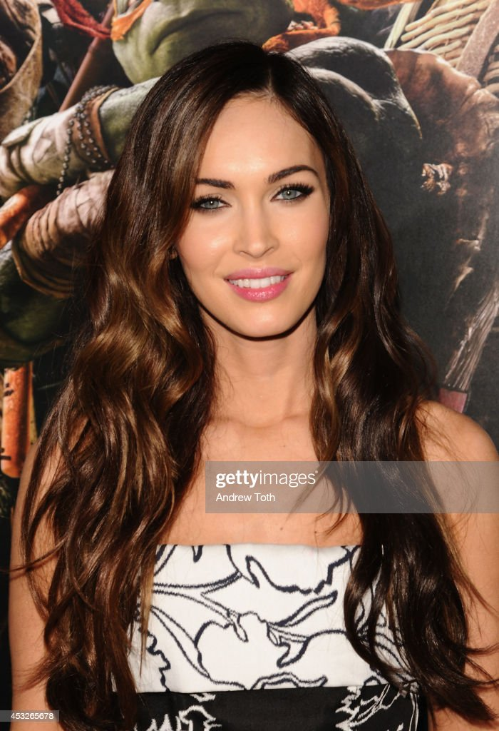 Actress <a gi-track='captionPersonalityLinkClicked' href=/galleries/search?phrase=Megan+Fox&family=editorial&specificpeople=2239934 ng-click='$event.stopPropagation()'>Megan Fox</a> attends 'Teenage Mutant Ninja Turtles' New York premiere at AMC Lincoln Square Theater on August 6, 2014 in New York City.