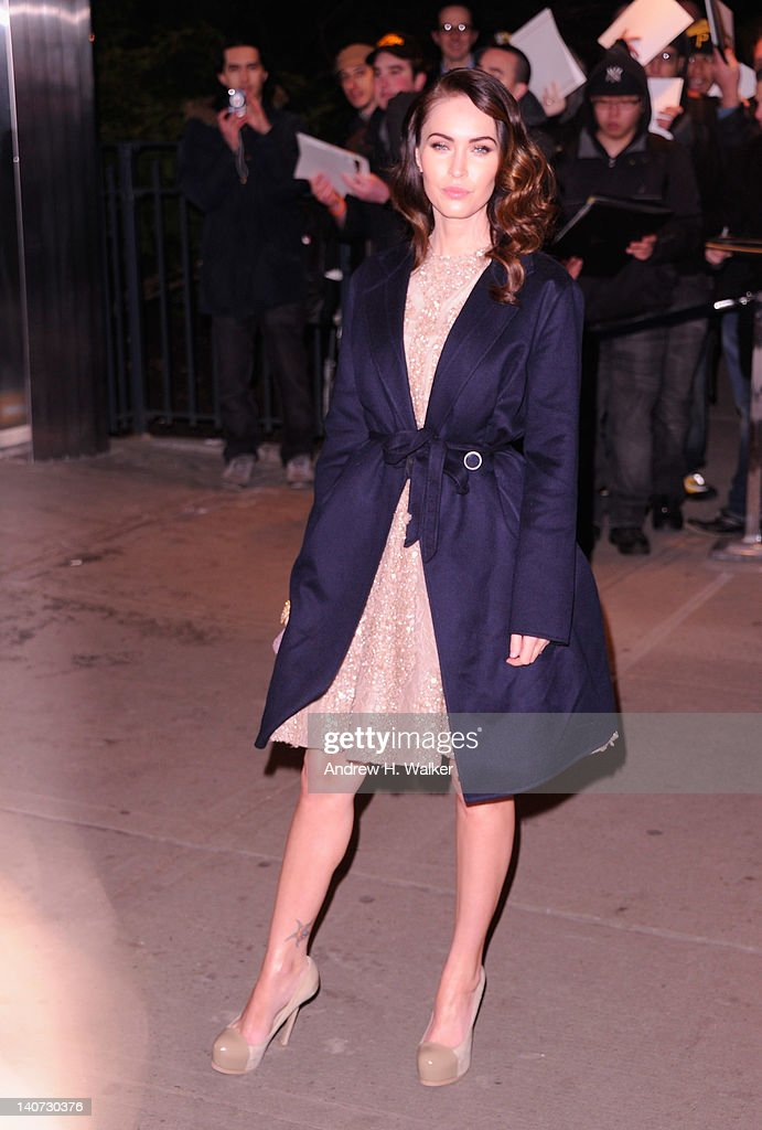 Actress <a gi-track='captionPersonalityLinkClicked' href=/galleries/search?phrase=Megan+Fox&family=editorial&specificpeople=2239934 ng-click='$event.stopPropagation()'>Megan Fox</a> attends the Cinema Society & People StyleWatch with Grey Goose screening of 'Friends With Kids' at the SVA Theater on March 5, 2012 in New York City.
