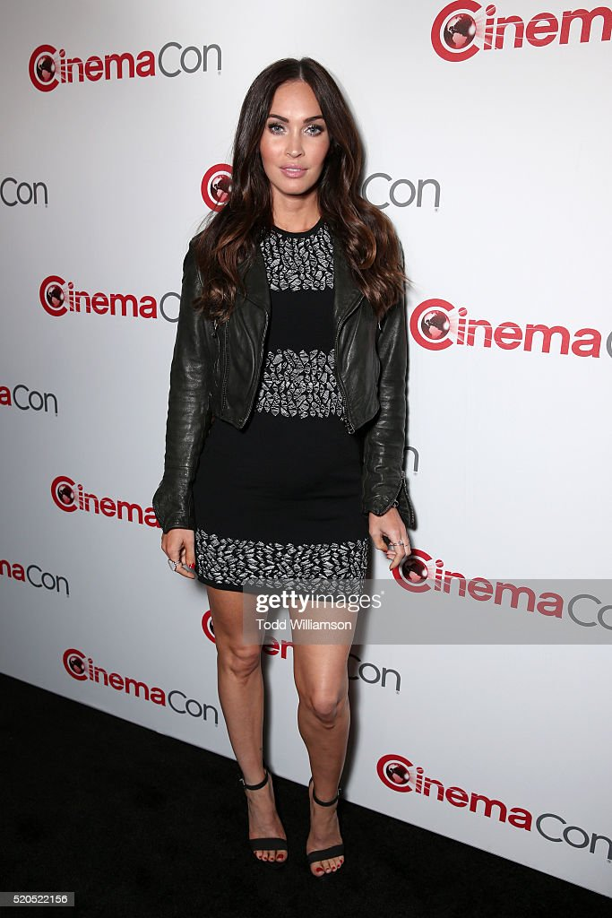 Actress <a gi-track='captionPersonalityLinkClicked' href=/galleries/search?phrase=Megan+Fox&family=editorial&specificpeople=2239934 ng-click='$event.stopPropagation()'>Megan Fox</a> attends the CinemaCon 2016 Gala Opening Night Event: Paramount Pictures Highlights its 2016 Summer and Beyond Films at The Colosseum at Caesars Palace during CinemaCon, the official convention of the National Association of Theatre Owners, on April 11, 2016 in Las Vegas, Nevada.