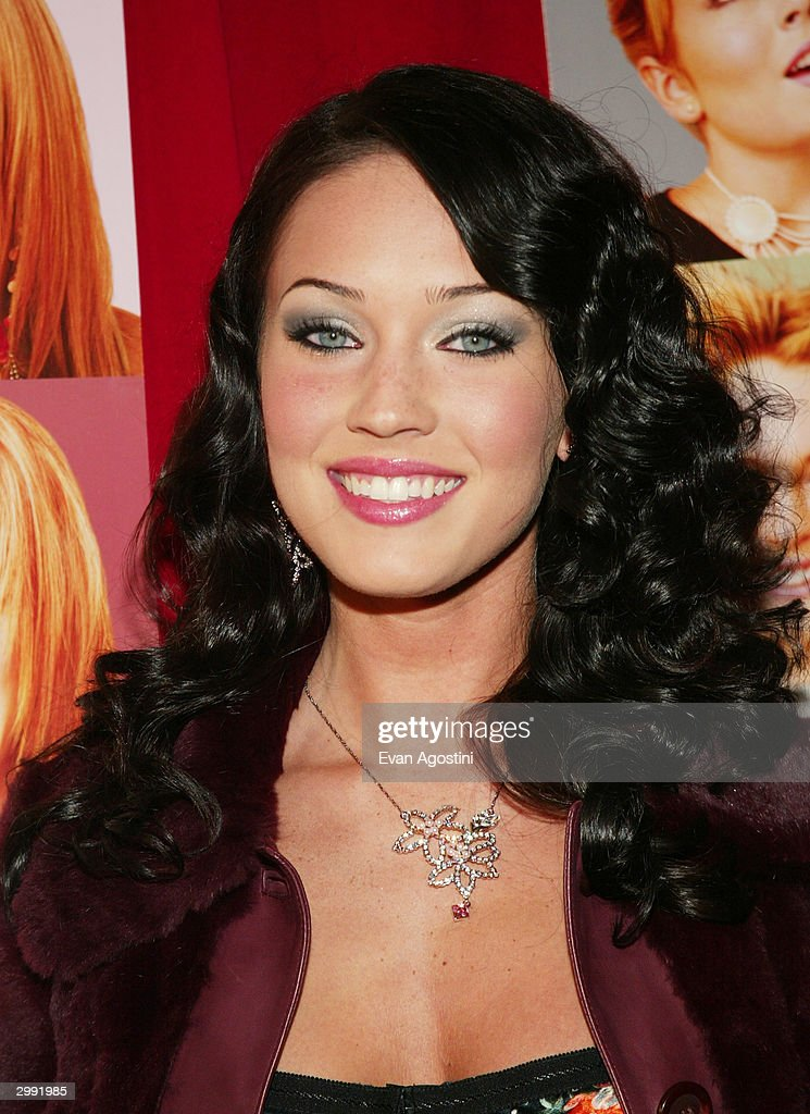 Actress <a gi-track='captionPersonalityLinkClicked' href=/galleries/search?phrase=Megan+Fox&family=editorial&specificpeople=2239934 ng-click='$event.stopPropagation()'>Megan Fox</a> attends the 'Confessions Of A Teenage Drama Queen' premiere at the Loews E-Walk Theater February 17, 2004 in New York City.