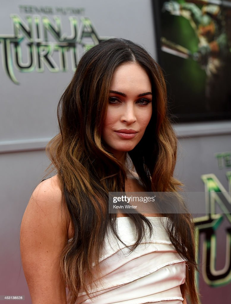 Actress <a gi-track='captionPersonalityLinkClicked' href=/galleries/search?phrase=Megan+Fox&family=editorial&specificpeople=2239934 ng-click='$event.stopPropagation()'>Megan Fox</a> attends the premiere of Paramount Pictures' 'Teenage Mutant Ninja Turtles' at Regency Village Theater on August 3, 2014 in Westwood, California.