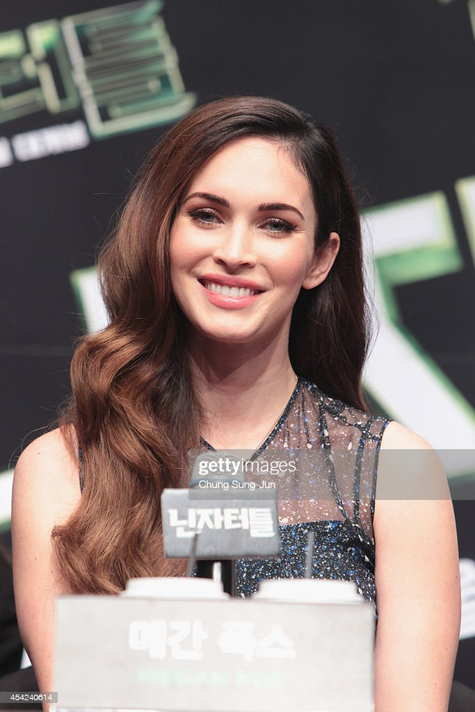 Actress Megan Fox attends the Press Conference of Paramount Pictures' 'TEENAGE MUTANT NINJA TURTLES' at Shilla Hotel on August 27 2014 in Seoul South...