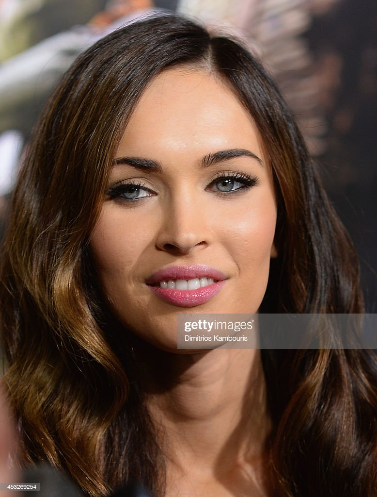 Actress <a gi-track='captionPersonalityLinkClicked' href=/galleries/search?phrase=Megan+Fox&family=editorial&specificpeople=2239934 ng-click='$event.stopPropagation()'>Megan Fox</a> attends the 'Teenage Mutant Ninja Turtles' New York premiere at AMC Lincoln Square Theater on August 6, 2014 in New York City.