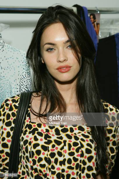 Actress Megan Fox front row at TART Spring 2008 collection during Mercedes Benz Fashion Week held at Smashbox Studios on October 17 2007 in Culver...