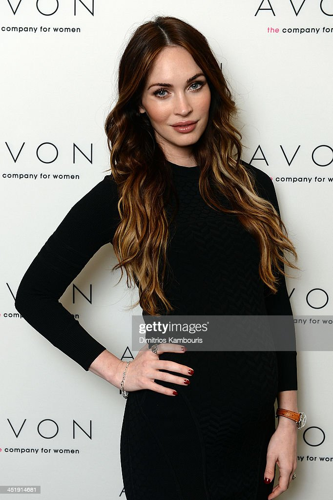 Actress <a gi-track='captionPersonalityLinkClicked' href=/galleries/search?phrase=Megan+Fox&family=editorial&specificpeople=2239934 ng-click='$event.stopPropagation()'>Megan Fox</a> in New York City where she helped the Avon Foundation launch the #SeeTheSigns of Domestic Violence global social media campaign.