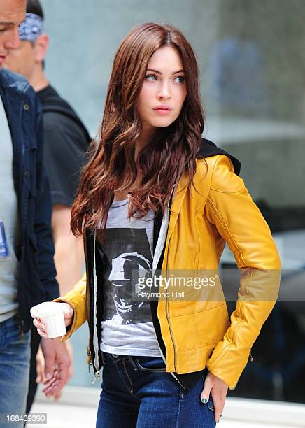 Actress Megan Fox is seen on the set of 'Teenage Mutant Ninja Turtles' on May 9 2013 in New York City