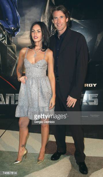 Actress Megan Fox of the US and Director Michael Bay attends the special event celebrity screening of the new film 'Transformers' at Hoyts...