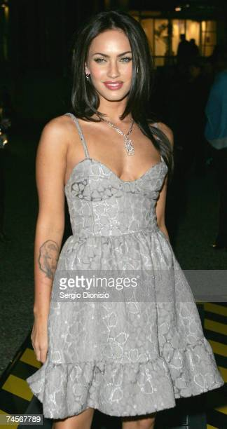 Actress Megan Fox of the US attends the special event celebrity screening of the new film 'Transformers' at Hoyts Entertainment Quarter Moore Park on...