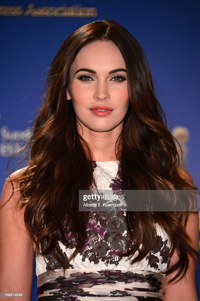 Actress Megan Fox speaks onstage at the 70th Annual Golden Globe Awards Nominations held at The Beverly Hilton Hotel on December 13, 2012 in Beverly Hills, California.