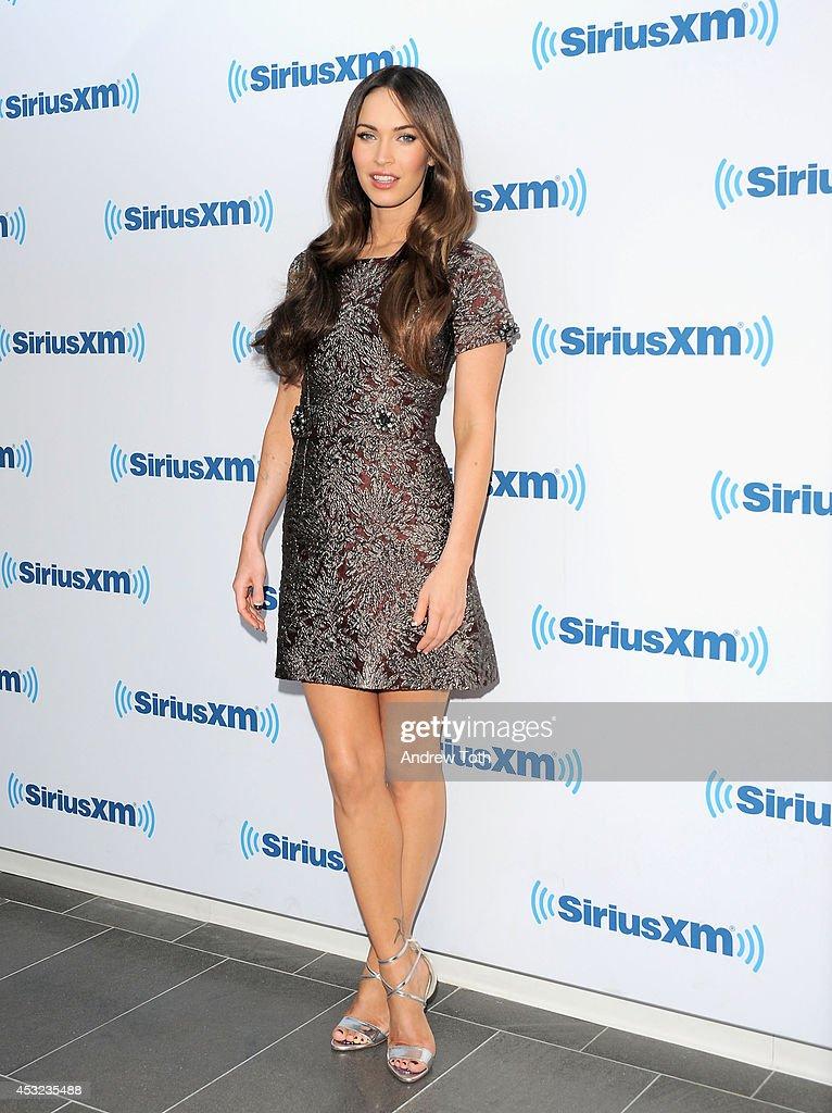 Actress Megan Fox visits SiriusXM Studios on August 5, 2014 in New York City.