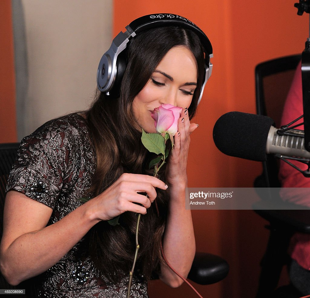Actress Megan Fox visits 'Sway in the Morning' with Sway Calloway at SiriusXM Studios on August 5, 2014 in New York City.