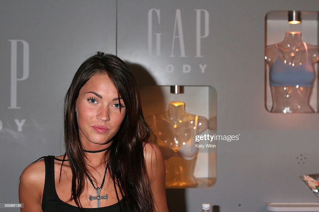 Actress Megan Fox visits the Gap Body booth attends day 4 of Olympus Fashion Week Spring 2006 at Bryant Park September 12, 2005 in New York City.