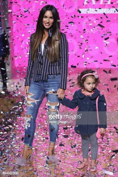 Actress Megan Fox walks the runway during the Liverpool Fashion Fest Autumn/Winter Kids show at Fronton Mexico on September 7 2017 in Mexico City...