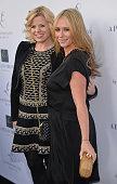 Actress Megan Hilty and actress Jennifer Love Hewitt arrive at the Launches of Jennifer Love Hewitt's new maternity line 'L by Jennifer Love Hewitt'...