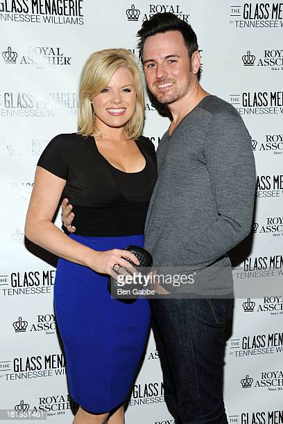 Actress Megan Hilty and boyfriend Brian Gallagher attend 'The Glass Menagerie' Broadway Opening Night at Booth Theater on September 26 2013 in New...