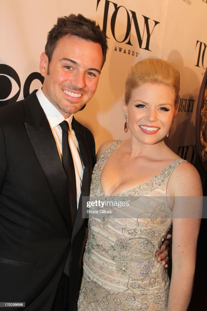 Actress Megan Hilty and Brian Gallagher attend the 67th Annual Tony Awards at Radio City Music Hall on June 9 2013 in New York City