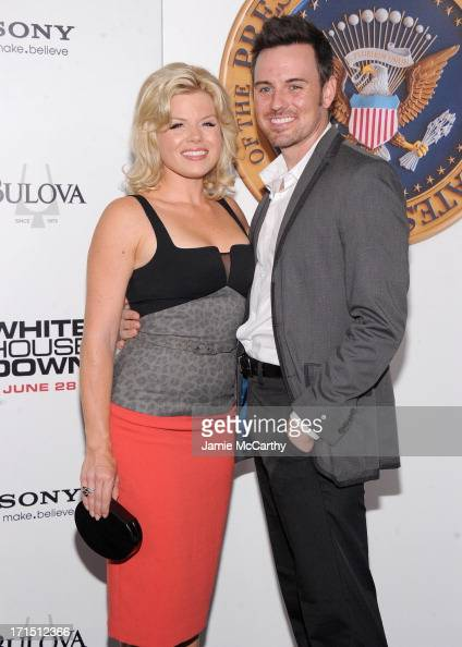 Actress Megan Hilty and Brian Gallagher attend 'White House Down' New York Premiere at Ziegfeld Theater on June 25 2013 in New York City