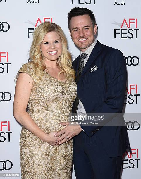 Actress Megan Hilty and husband Brian Gallagher arrive at AFI FEST 2016 Presented by Audi Opening Night Premiere of 20th Century Fox's 'Rules Don't...