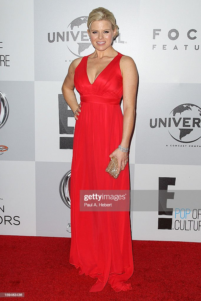 Actress Megan Hilty arrives at NBC Universal's 70th Annual Golden Globe Awards after party held at the Beverly Hilton Hotel on January 13, 2013 in Beverly Hills, California.