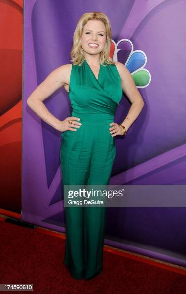 Actress Megan Hilty arrives at the 2013 NBC Television Critics Association's Summer Press Tour at The Beverly Hilton Hotel on July 27 2013 in Beverly...