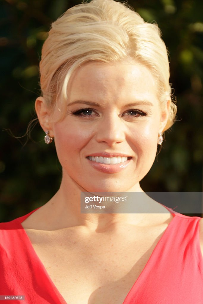 Actress Megan Hilty arrives at the 70th Annual Golden Globe Awards held at The Beverly Hilton Hotel on January 13, 2013 in Beverly Hills, California.