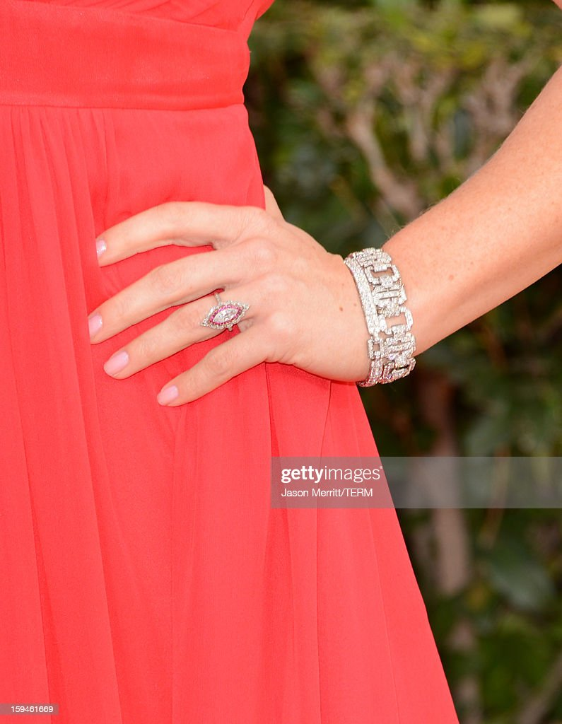 Actress Megan Hilty (detail) arrives at the 70th Annual Golden Globe Awards held at The Beverly Hilton Hotel on January 13, 2013 in Beverly Hills, California.