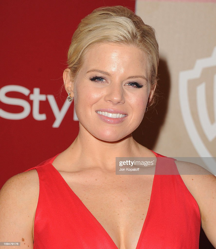 Actress Megan Hilty arrives at the InStyle And Warner Bros. Golden Globe Party at The Beverly Hilton Hotel on January 13, 2013 in Beverly Hills, California.