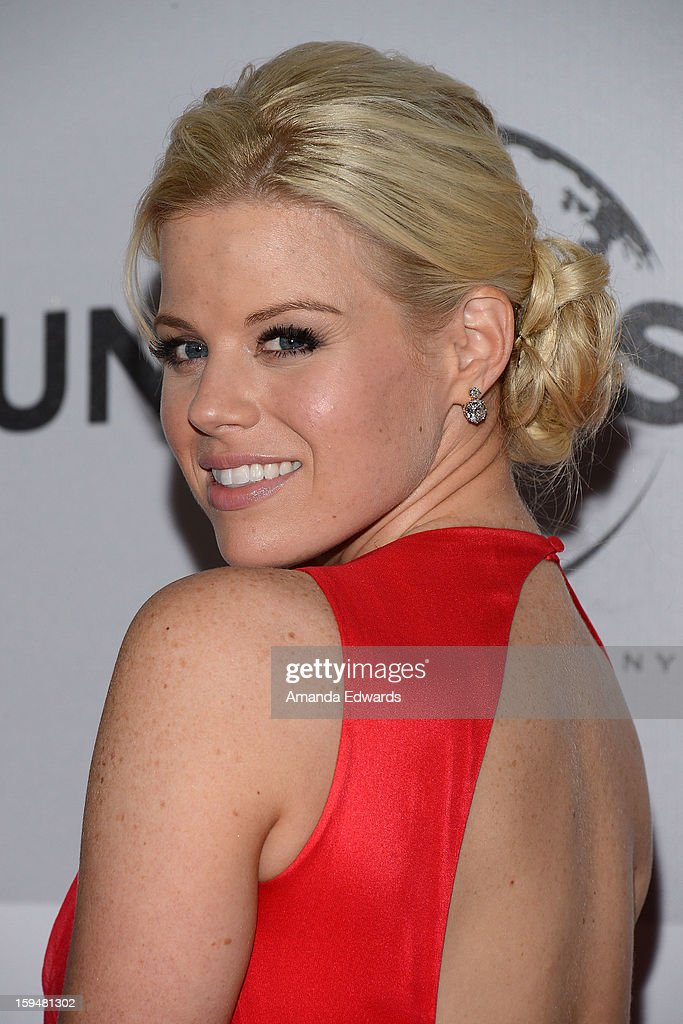 Actress Megan Hilty arrives at the NBC Universal's 70th Golden Globes After Party at The Beverly Hilton Hotel on January 13, 2013 in Beverly Hills, California.
