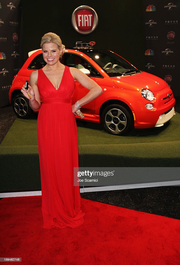 Actress Megan Hilty attends Fiat's Into The Green at the 70th Annual Golden Globe Awards held at The Beverly Hilton Hotel on January 13, 2013 in Beverly Hills, California.