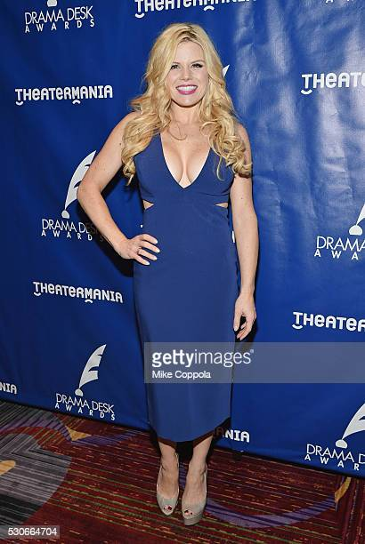 Actress Megan Hilty attends the 2016 Drama Desk Awards Nominees Reception at The New York Marriott Marquis on May 11 2016 in New York City