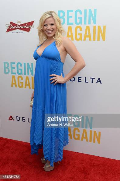 Actress Megan Hilty attends the 'Begin Again' premiere at SVA Theater on June 25 2014 in New York City