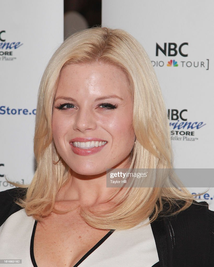 Actress <a gi-track='captionPersonalityLinkClicked' href=/galleries/search?phrase=Megan+Hilty&family=editorial&specificpeople=602492 ng-click='$event.stopPropagation()'>Megan Hilty</a> attends the 'Bombshell' The Complete Cast Recording Of 'Smash' Press Preview at NBC Experience Store on February 13, 2013 in New York City.