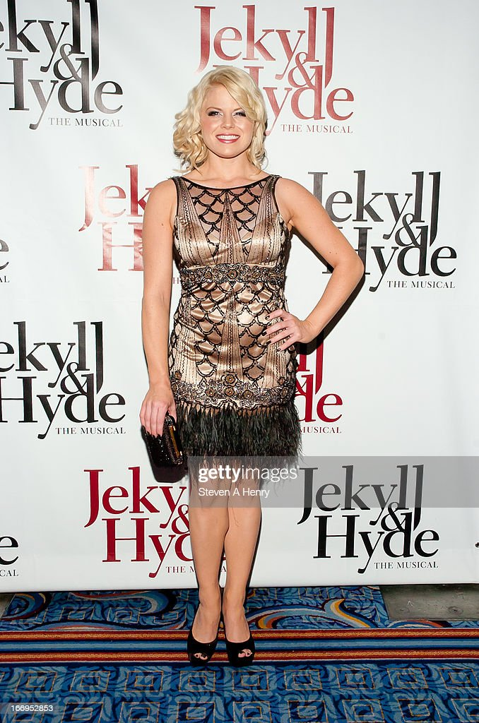 Actress Megan Hilty attends the Broadway opening night of 'Jekyll & Hyde The Musical' at the Marquis Theatre on April 18, 2013 in New York City.