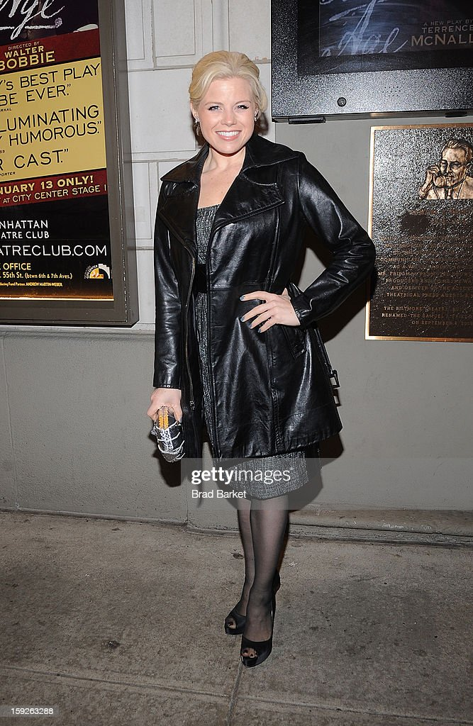 Actress <a gi-track='captionPersonalityLinkClicked' href=/galleries/search?phrase=Megan+Hilty&family=editorial&specificpeople=602492 ng-click='$event.stopPropagation()'>Megan Hilty</a> attends 'The Other Place' Broadway opening night at Samuel J. Friedman Theatre on January 10, 2013 in New York City.