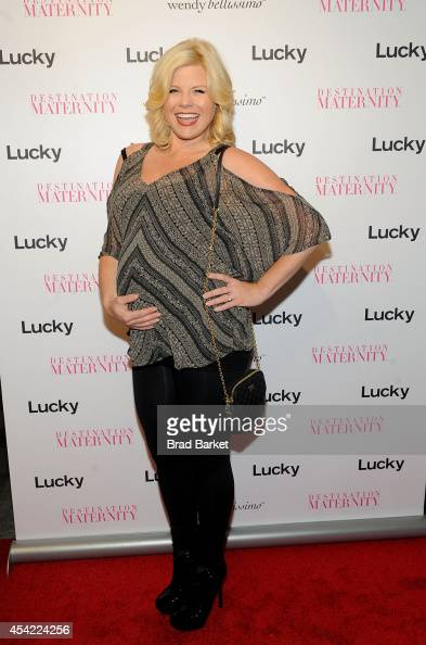 Actress Megan Hilty attends the Wendy Bellissimo For Destination Maternity Launch at Destination Maternity on August 26 2014 in New York City