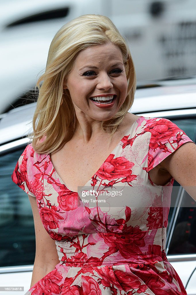 Actress Megan Hilty films a scene at the 'Smash' movies set in Times Square on February 4, 2013 in New York Citys