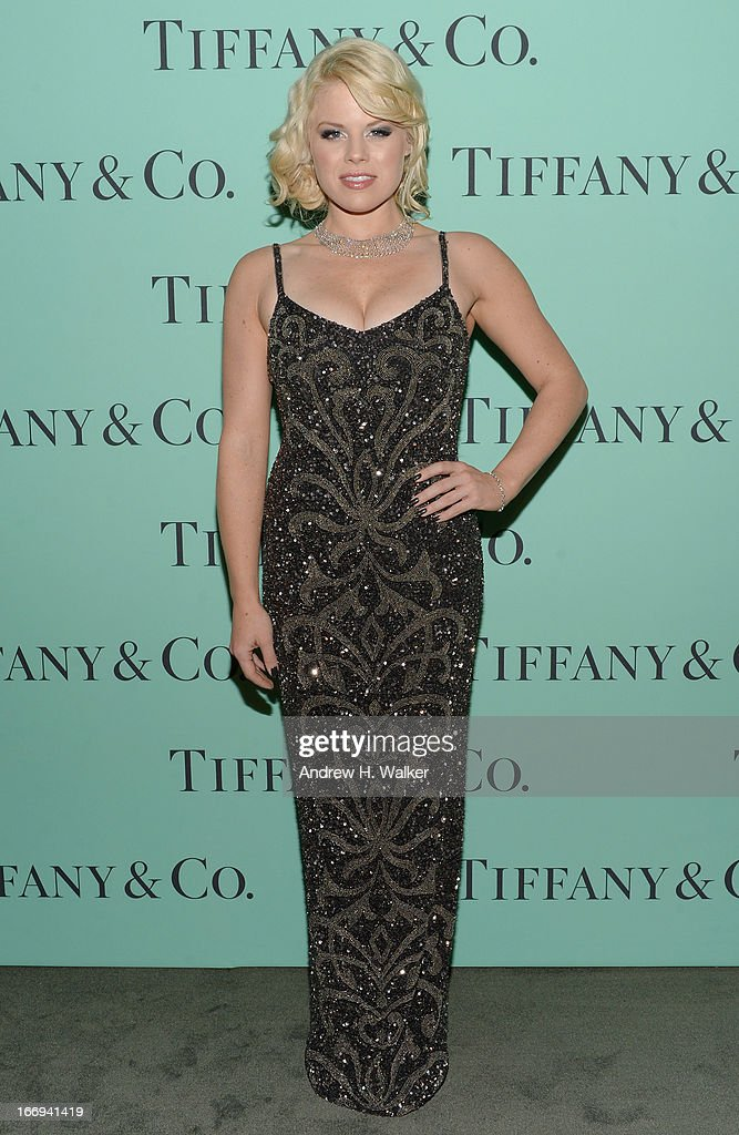Actress Megan Hilty is wearing Diamonds from the Tiffany & Co. 2013 Blue Book Collection as she attends the Tiffany & Co. Blue Book Ball at Rockefeller Center on April 18, 2013 in New York City.