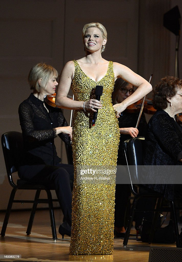 Actress Megan Hilty performs during The New York Pops Gala Concert at Carnegie Hall on March 8, 2013 in New York City.