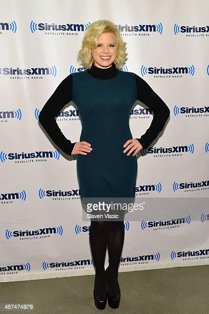 Actress Megan Hilty visits SiriusXM Studios on December 17 2013 in New York City
